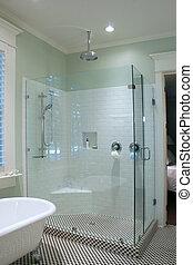 Una ducha de cristal