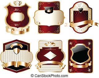 Una elegante etiqueta de oro