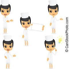 Una enfermera cómica