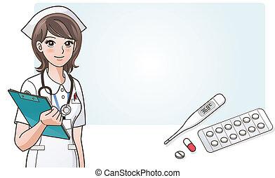 Una enfermera con médico
