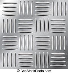 Una escotilla de metal sin costura