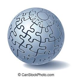 Una esfera de rompecabezas