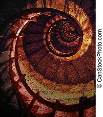 Una espiral abstracta