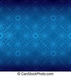 Una espiral floral azul