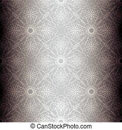 Una espiral floral plateada