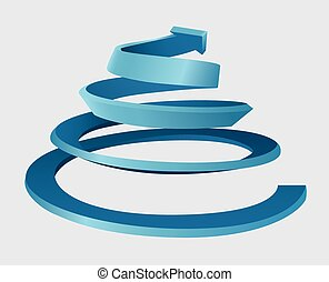 Una espiral tridimensional
