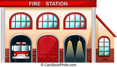 Una estación de bomberos