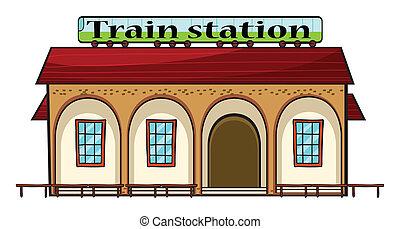 Una estación de tren