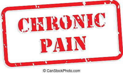 Una estampilla de goma de dolor crónico