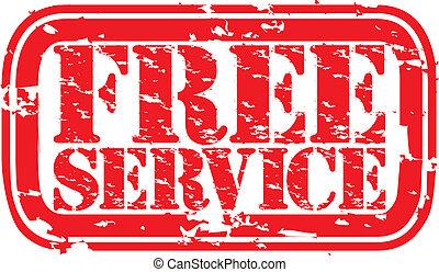 Una estampilla de goma de servicio gratis, V