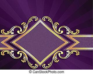Una estandarte de oro con forma de diamante
