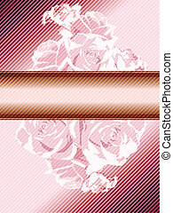 Una estandarte rosa con rosas