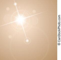 Una estrella abstraída con lentes