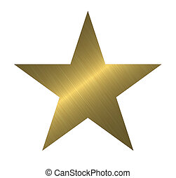 Una estrella de metal
