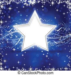 Una estrella de Navidad azul
