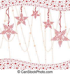Una estrella de Navidad roja