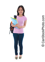 Una estudiante mala con antecedentes blancos