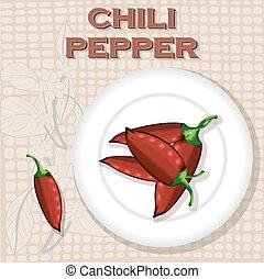 Una etiqueta antigua para chile picante