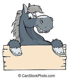 Una etiqueta de caballo