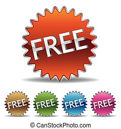 "Una etiqueta de ""Estallido"" gratis"