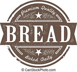Una etiqueta de pan recién horneado