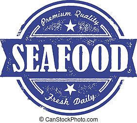 Una etiqueta de pescado fresco