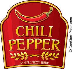 Una etiqueta de pimienta