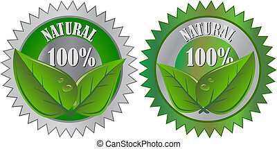 Una etiqueta ecológica natural