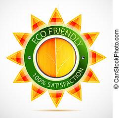 Una etiqueta ecológica para el sol