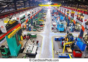 Una fábrica de metal industria dentro
