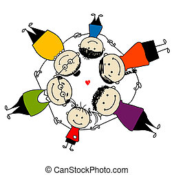 Una familia feliz, un marco para tu diseño