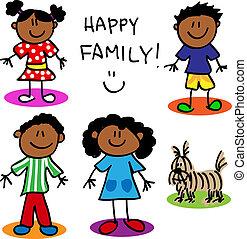 Una familia negra