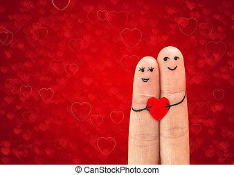 Una feliz pareja enamorada