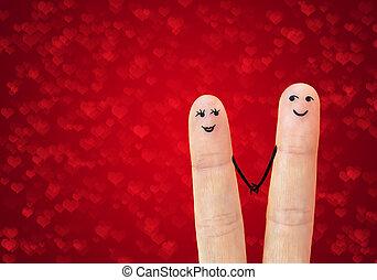 Una feliz pareja enamorada. Reunión.