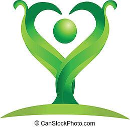 Una figura de vector de logotipo verde
