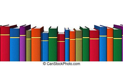 Una fila de libros de color