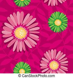 Una flor desterrada contrasta un patrón sin fisuras