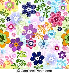 Una floral sin color de primavera