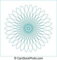 Una forma geométrica de espirógrafo adecuada para la marca de agua