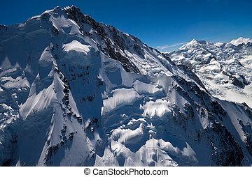 Una foto aérea de Mount Cook