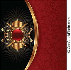 Una foto de oro con corona heráldica