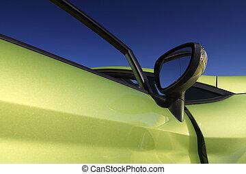 Una foto de un lindo y deportivo auto verde
