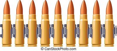 Una foto del cinturón de balas