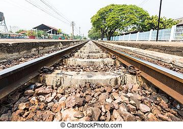 Una foto detallada de un ferrocarril