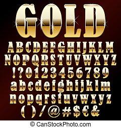 Una fuente de oro Vector