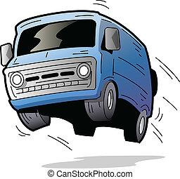Una furgoneta divertida