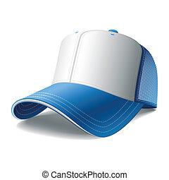 Una gorra de béisbol azul