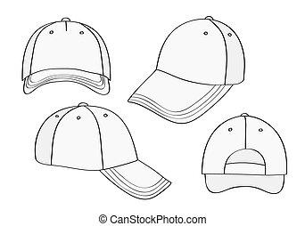 Una gorra en blanco