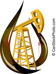 Una gota de aceite fósil y la bomba dentro.