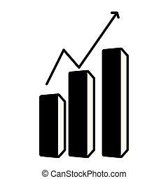 Una gráfica de crecimiento empresarial